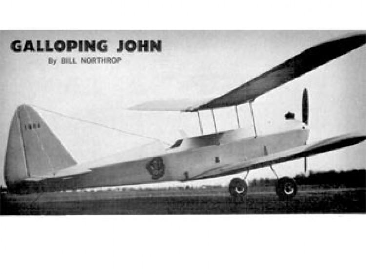 Galloping John model airplane plan