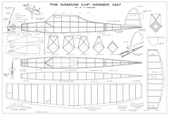 Gamage Cup model airplane plan