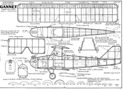 Gannet model airplane plan