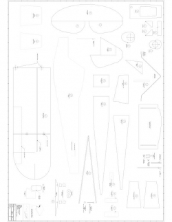 Garden Cub p2 Model 1 model airplane plan