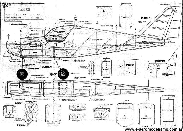 Garti 2 model airplane plan