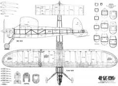 Gas King 48in model airplane plan