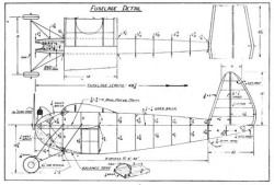 Gas Model p1 model airplane plan