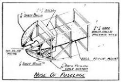 Gas Model p4 model airplane plan