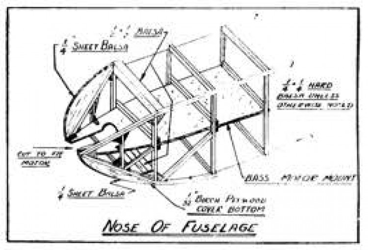 Gas Model p4 model airplane plan