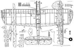 Gay Devil CL model airplane plan
