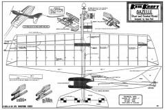 Gazelle model airplane plan