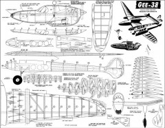 Gee-38 model airplane plan