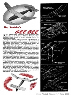 GeeBee model airplane plan