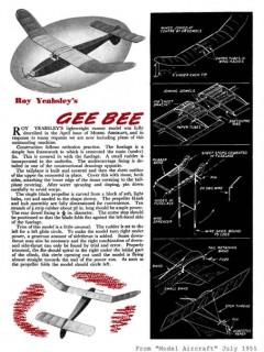GeeBee model airplane plan