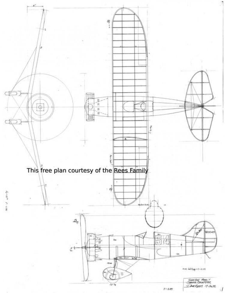 Gee Bee Model Y model airplane plan