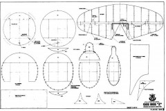GeeBee Z 3 model airplane plan