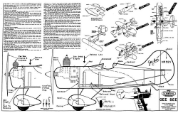 Gee Bee 2 model airplane plan