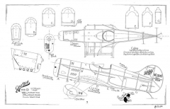 Gee Bee D model airplane plan