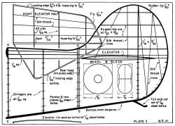 Gee Bee D p2 model airplane plan