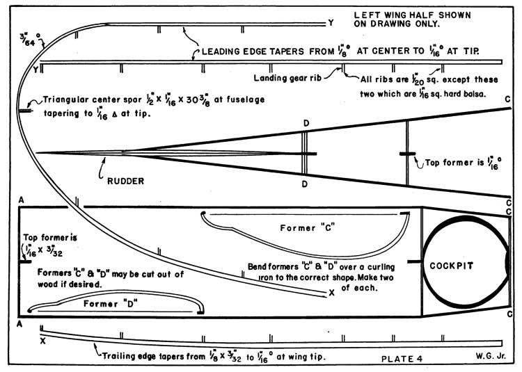 Gee Bee D p3 model airplane plan