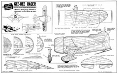 Gee Bee Racer model airplane plan