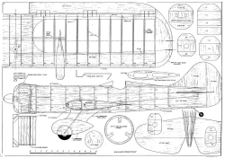 Gee Bee Stunt model airplane plan