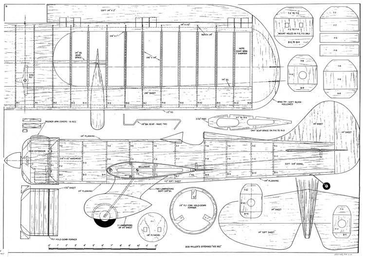 Gee Bee Stunt model airplane plan