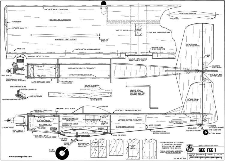 Gee Tee 1 model airplane plan