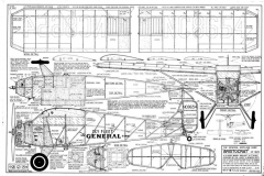 General Aristocrat model airplane plan