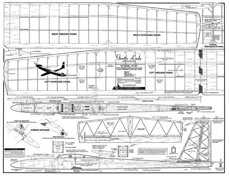 Gentle Lady model airplane plan
