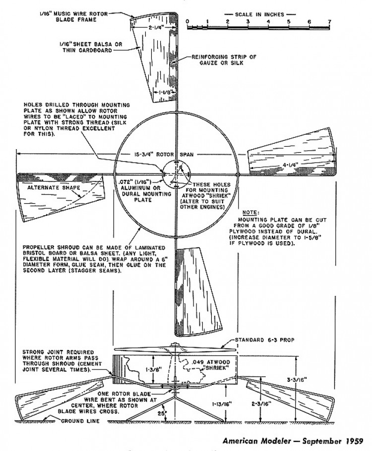 German Saucer model airplane plan