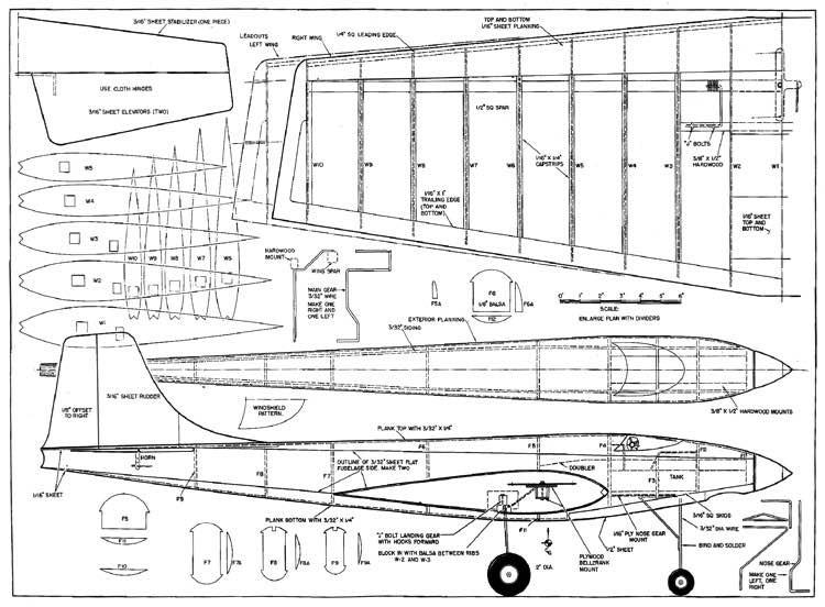 Gigantis model airplane plan