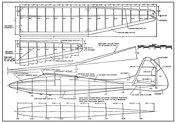 1948 Glider model airplane plan