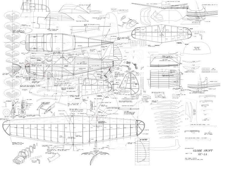 Globe Swift 30in model airplane plan
