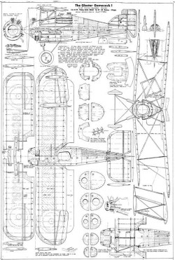 Gloster Gamecock astral model airplane plan