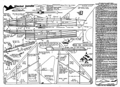 Gloster Javelin KK model airplane plan