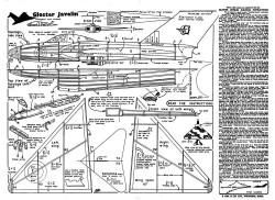 Gloster Javelin KK model airplane plan