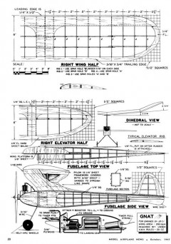 Gnat model airplane plan