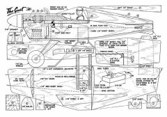 Gnat TR model airplane plan