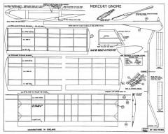 Gnome Mercury model airplane plan