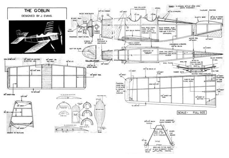 Goblin model airplane plan