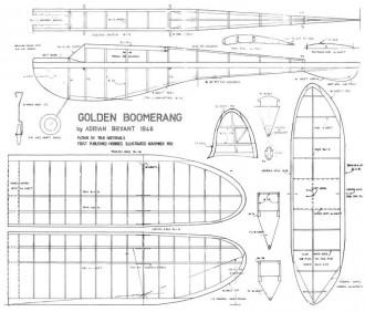 Golden Boomerang 1946 model airplane plan