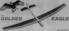 Golden Eagle model airplane plan
