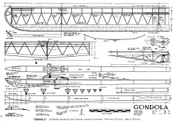 Gondola model airplane plan
