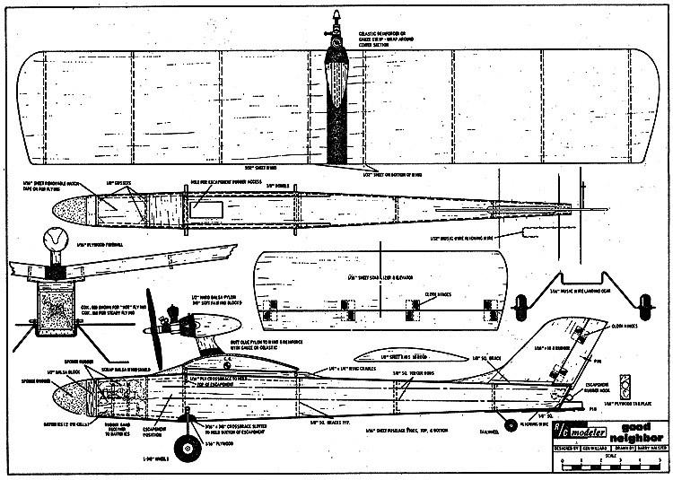 Good Neighbor RCM-155 model airplane plan