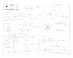 Gook BW Print model airplane plan