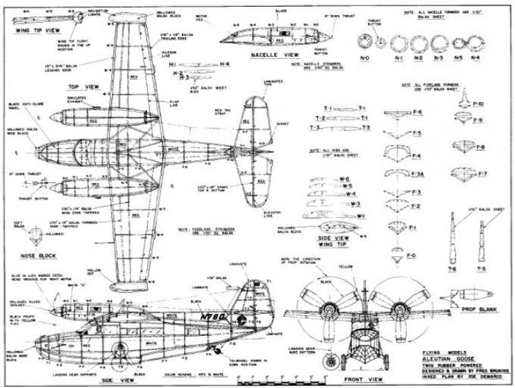 Aleutian Goose model airplane plan