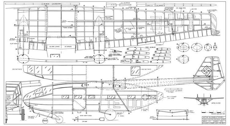 Gotha Go 242 244 model airplane plan