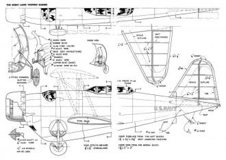 Great Lakes Torpedo Bomber model airplane plan