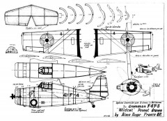 Gruman Wildcat Peanut model airplane plan