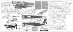 Grumman F-8-F Bearcat model airplane plan