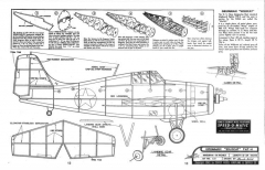 Grumman F4F-4 Wildcat 18in model airplane plan