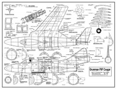 Grumman F9F Cougar model airplane plan
