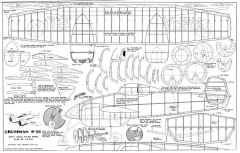 GrummanP50-32in model airplane plan